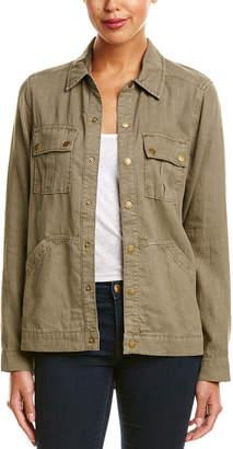 Level 99 Gina Military Linen-Blend Shiraket