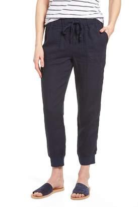Caslon R R) Linen Jogger Pants (Regular & Petite)