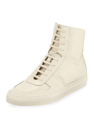 Common Projects Men's BBall Leather High-Top Sneakers