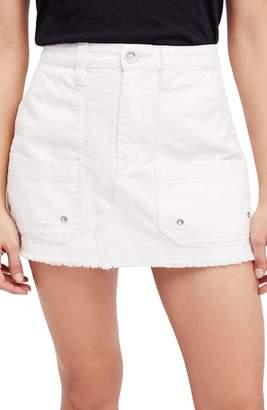 Free People Canvas Miniskirt
