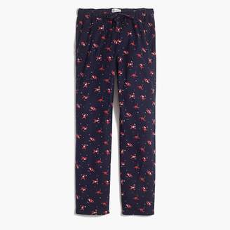J.Crew Flannel pajama pant with santa print