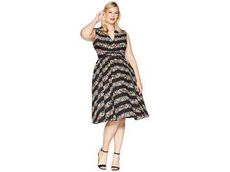 Unique Vintage Plus Size De Carlo Swing Dress