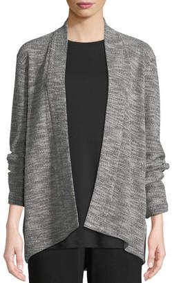 Eileen Fisher Jacquard Knit Short Eco Cotton Kimono Jacket
