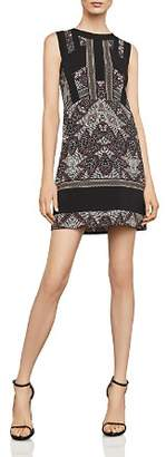 BCBGMAXAZRIA Color-Block Printed Dress