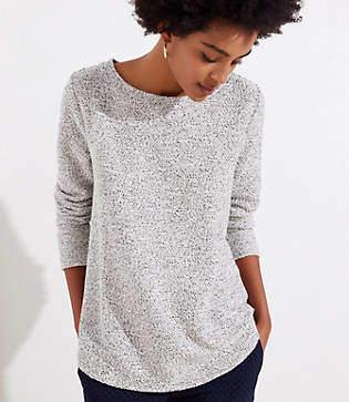 LOFT Petite Boucle Tunic Sweatshirt