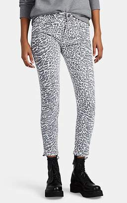 Current/Elliott Women's The Stiletto Leopard-Print Skinny Jeans