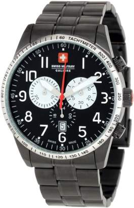 Swiss Military Calibre Men's 06-5R4-013-007.1 Red Star Dial Chronograph Steel Date Watch