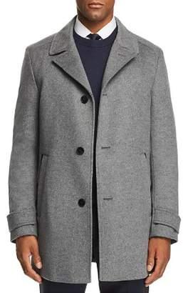 HUGO Midais Car Coat w/ Faux Leather Undercollar