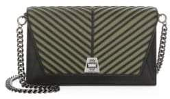 Akris Anouk City Herringbone Leather Crossbody Bag