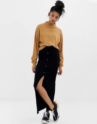Asos Design DESIGN rib jersey maxi tube skirt