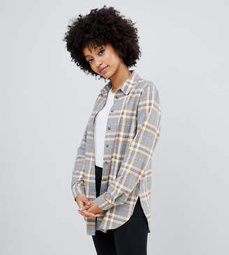 New Look check shirt in grey pattern