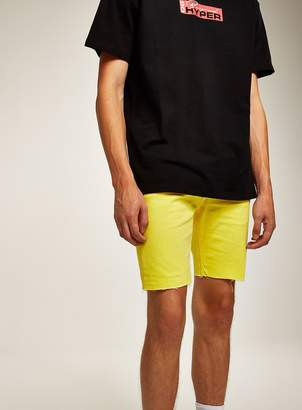 Topman Yellow Stretch Skinny Shorts