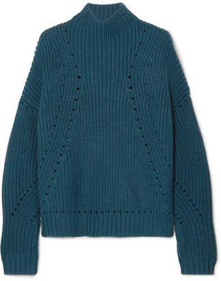 Jason Wu GREY Ribbed Wool Sweater - Petrol