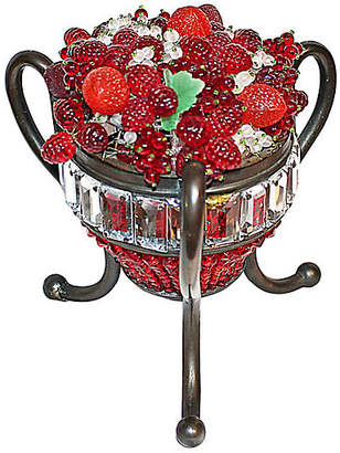 One Kings Lane Vintage Czech Glass Fruit Basket Lamp - House of Charm Antiques