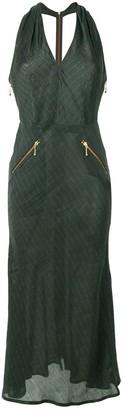 Jean Paul Gaultier Pre-Owned pinstriped halterneck dress