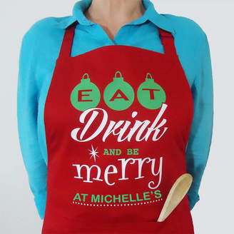 FROZEN FIRE Personalised Christmas Apron