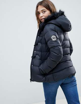 Brave Soul Wizard Short Padded Coat with Faux Fur Hood