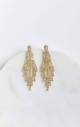 MUMU Glitz Chandelier Earrings ~ Gold