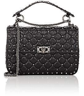 Valentino Women's Rockstud Medium Leather Shoulder Bag - Nero
