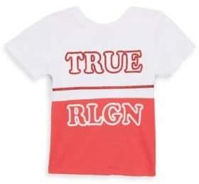 True Religion Little Girl's True Half Cotton Tee
