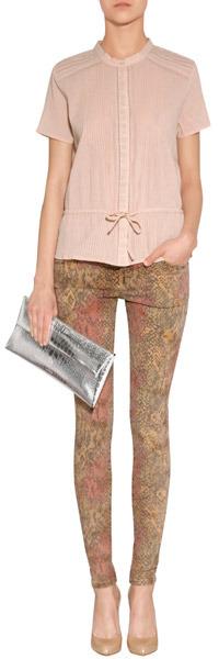 Vanessa Bruno Rose Cotton Pintucked Shirt