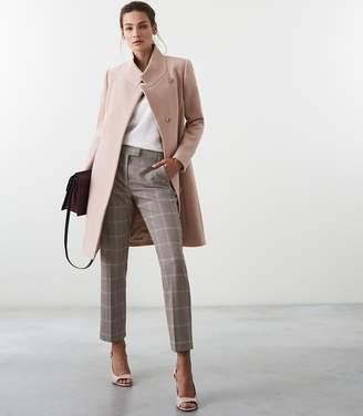 Reiss MABEL LONGLINE COAT Soft Pink