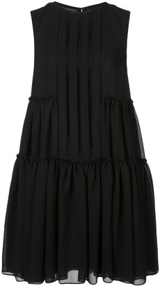 Vera Wang pleated shirt dress