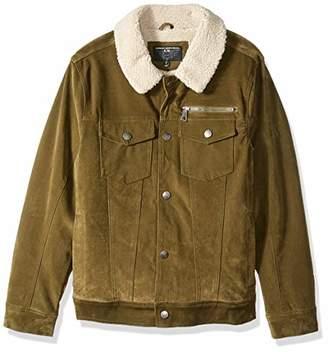 Urban Republic Men's Boys Trendy Pu Suede Jacket