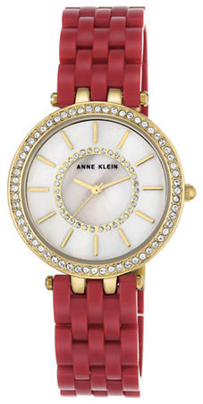 Anne Klein Anne Klein Swarovski Crystal Embellished Analog Watch