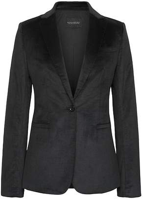 Banana Republic Petite Long and Lean-Fit Solid Velvet Blazer