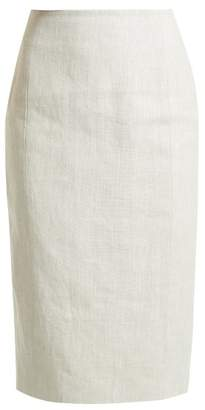 Carl Kapp - Kiara High Rise Linen Skirt - Womens - White Multi