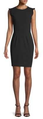 Tahari Stefana Cap-Sleeve Sheath Dress