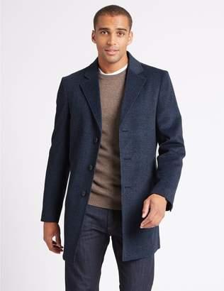 Marks and Spencer Wool Blend Revere Overcoat