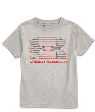 Toddler Boy's Under Armour Logo Lines Graphic Heatgear T-Shirt $17.99 thestylecure.com