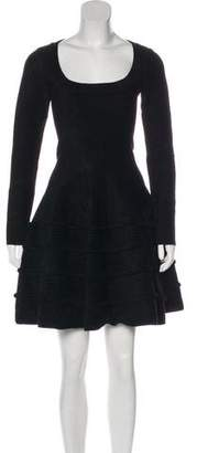 Alaia Textured Fit & Flare Dress