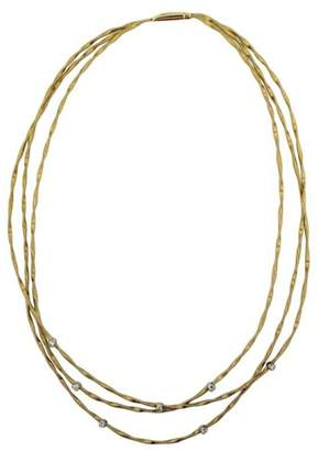 Marco Bicego Mini Marrakech 18K Yellow Gold 0.21 Ct Diamond 3-Strand Necklace