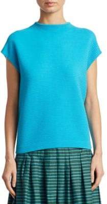 Akris Punto Knit Cap-Sleeve Top