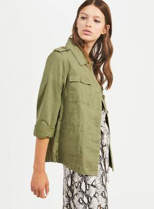 Miss Selfridge Khaki utility shacket