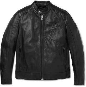 Belstaff V Racer Slim-fit Leather Jacket