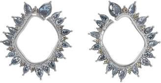 Vince Camuto Silvertone Jewel-spike Wraparound Earrings