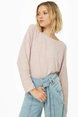 Forever 21 Ribbed Knit Keyhole Top