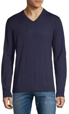 Black & Brown Black Brown V-Neck Merino Wool Sweater