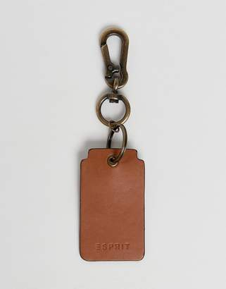 Leather Key Ring In Brown
