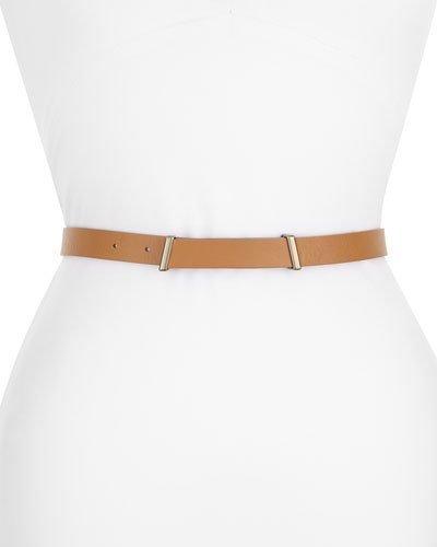 AkrisAkris Leather One-Way Belt, Cuoio/Cognac