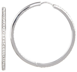 NADRI Large Crystal Pave Channel Hoop Earrings $55 thestylecure.com