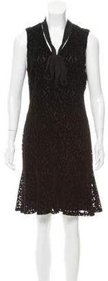Karl Lagerfeld Sleeveless Velvet-Accented Dress w/ Tags