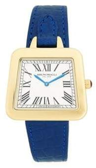 Bruno Magli Emma Swiss Quartz Leather Strap Analog Watch