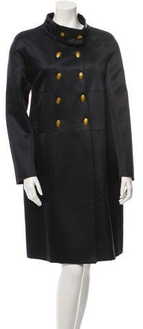 Valentino Valentino Double-Breasted Wool-Blend Coat w/ Tags