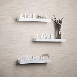 "Wrought Studio Howton 3 Piece ""Live, Love, Laugh"" Floating Shelf Set"