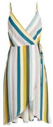 Leith Stripe Wrap Dress